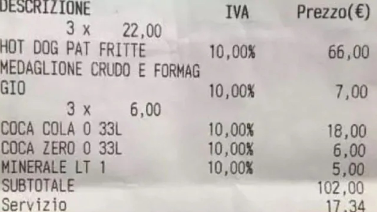 Outrage after tourists charged nearly $200 for three hot dogs and a sandwich