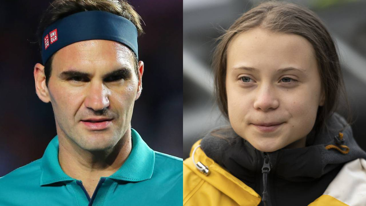 Roger Federer hits back at Greta Thunberg's swipe