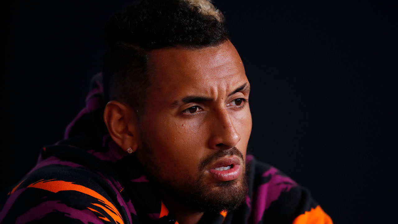 Nick Kyrgios scoffs at reporter's question after Australian Open win