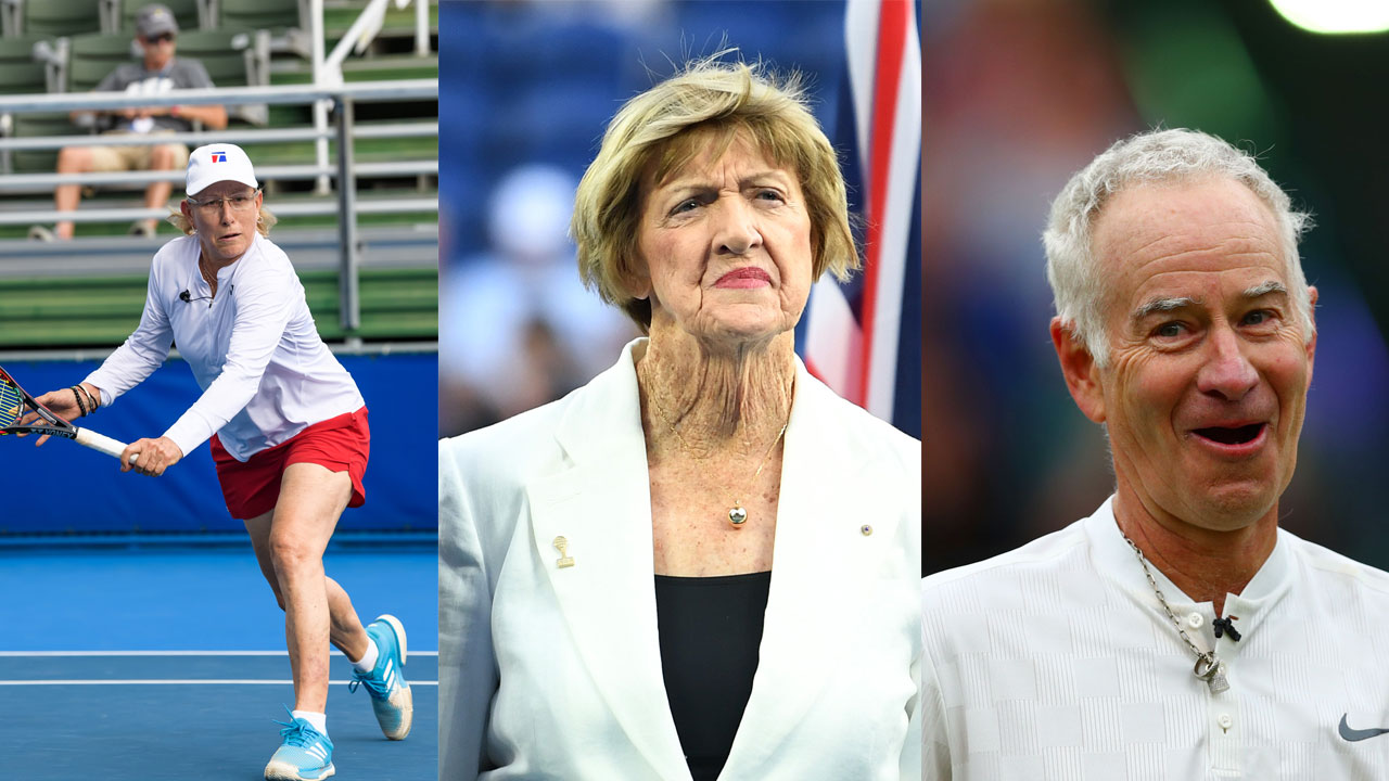 Tennis greats back-pedal in the wake of Margaret Court protest