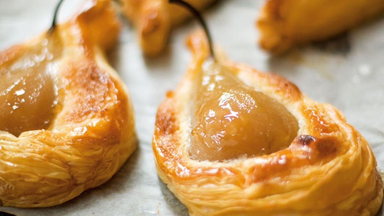 Whip up some puff pastry pear tarts