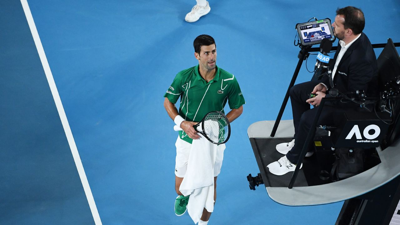 Sorry, not sorry: Djokovic speaks out on patting chair umpire's feet
