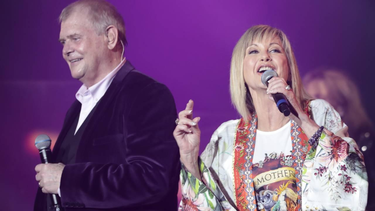 John Farnham and Olivia Newton-John reunite