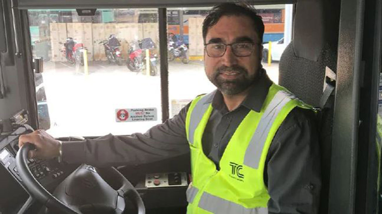 Bus driver hailed a hero after heartwarming act