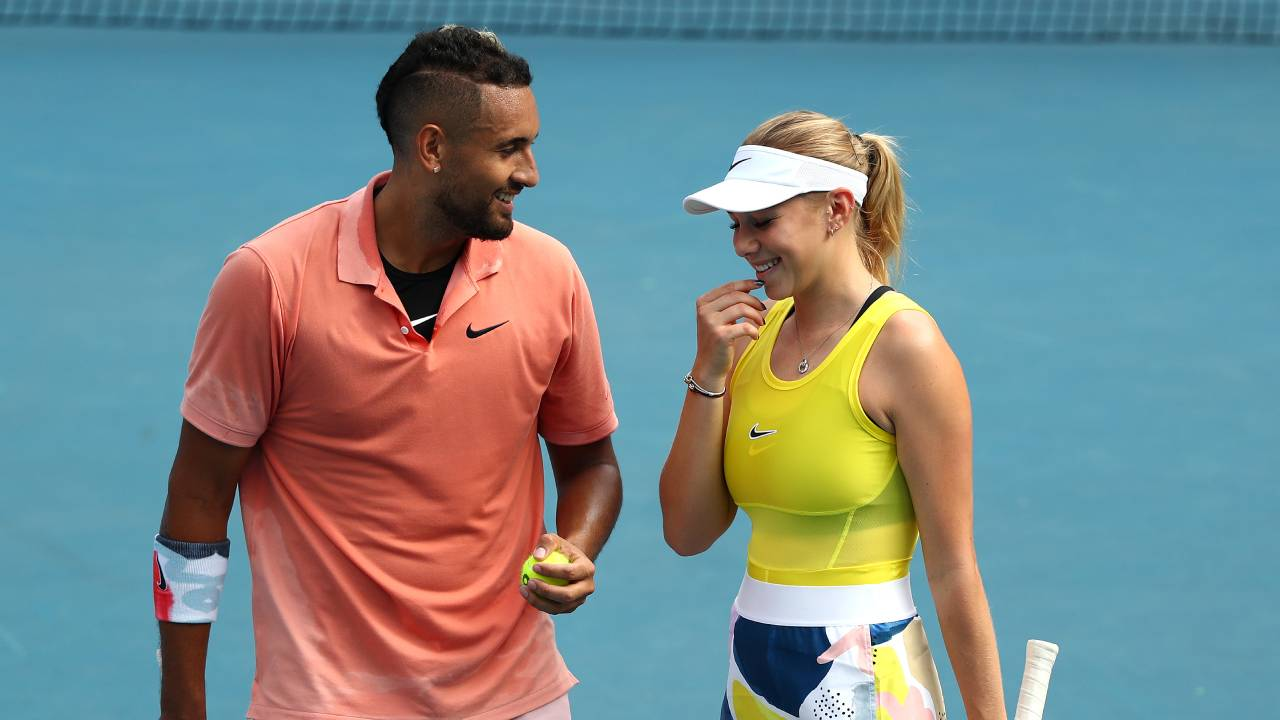 """""""Stay inside silly"""": Nick Kyrgios takes a gentle swipe at former partner's quarantine photo"""