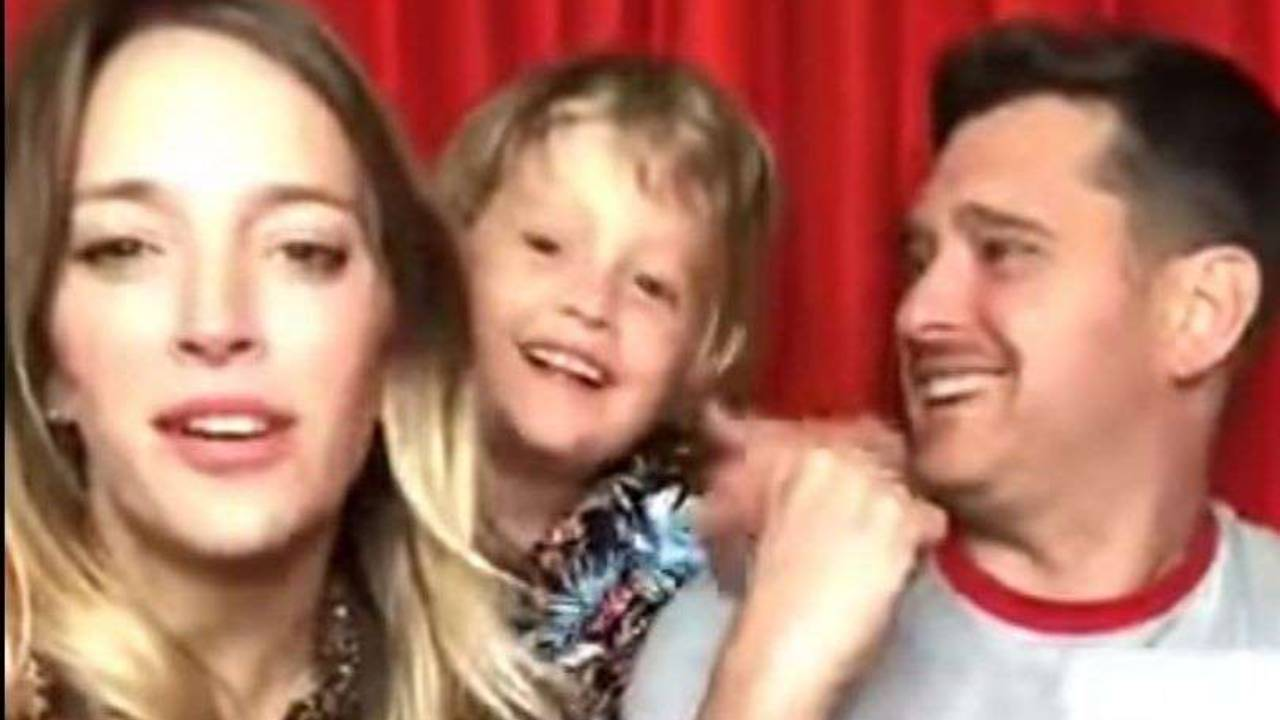 Michael Buble returns to Instagram in son Noah's first appearance since beating cancer