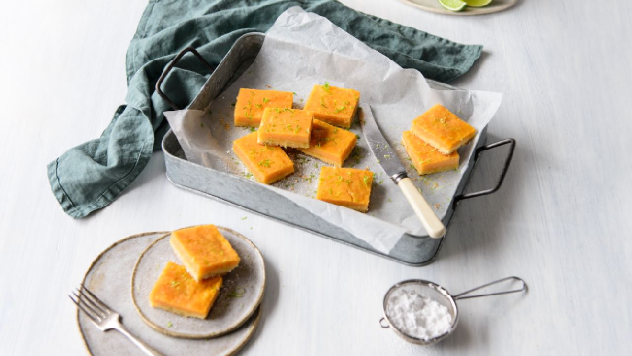 Papaya lime bars
