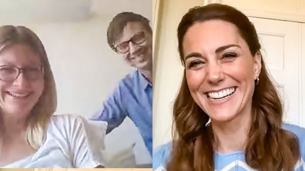 """""""Definitely a first"""": Duchess Kate leaves new parents stunned in surprise video call"""