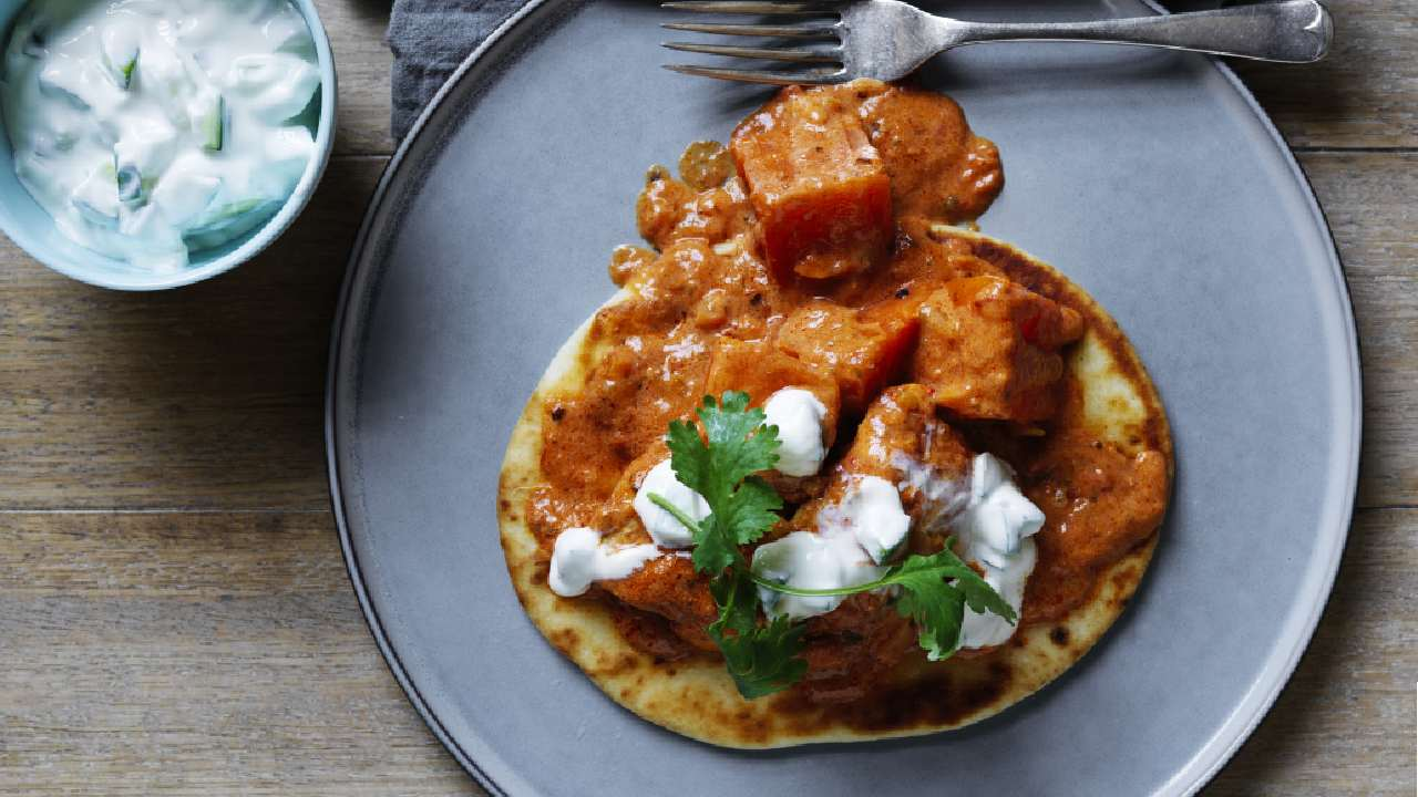 Butter chicken and sweet potato