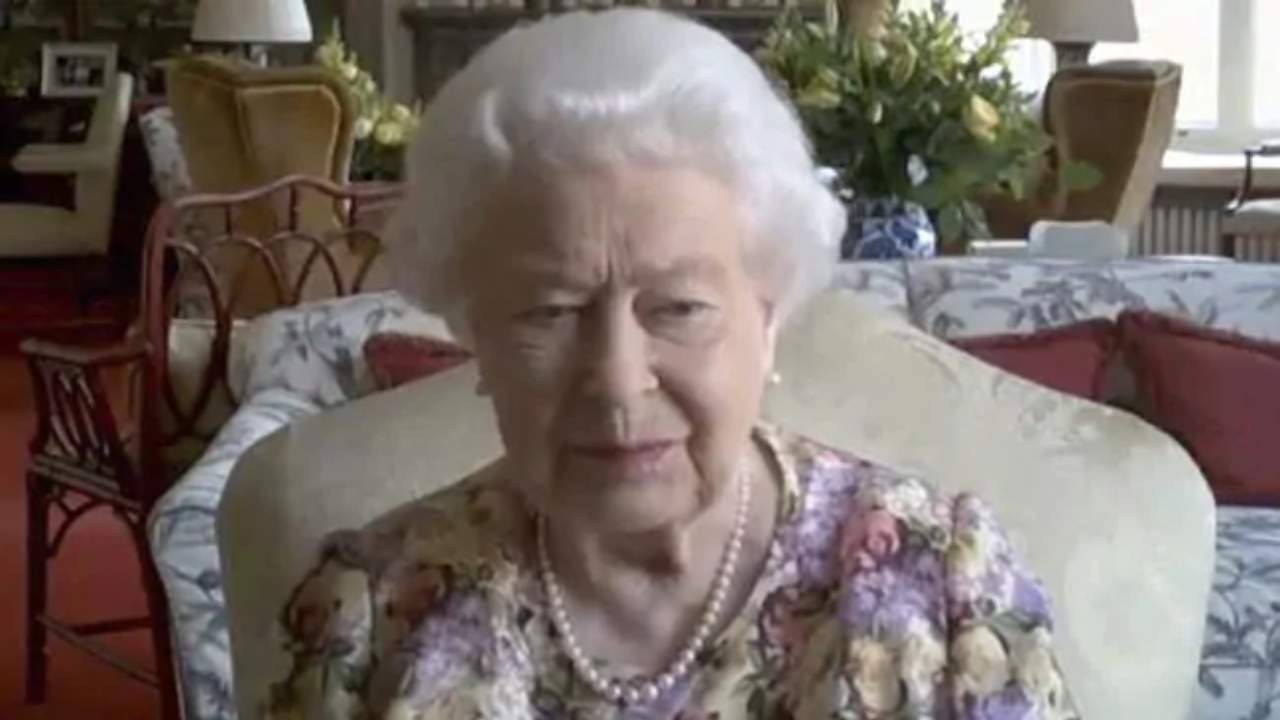 Queen's first video conference during lockdown