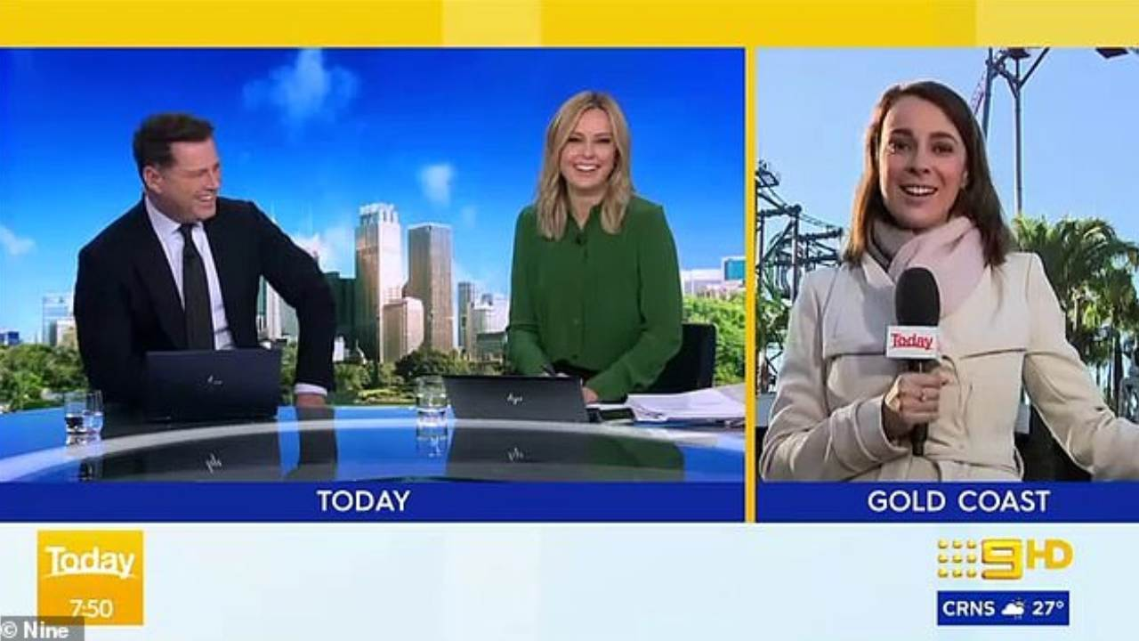 Today show reporter announces she's pregnant, much to the surprise of Karl Stefanovic