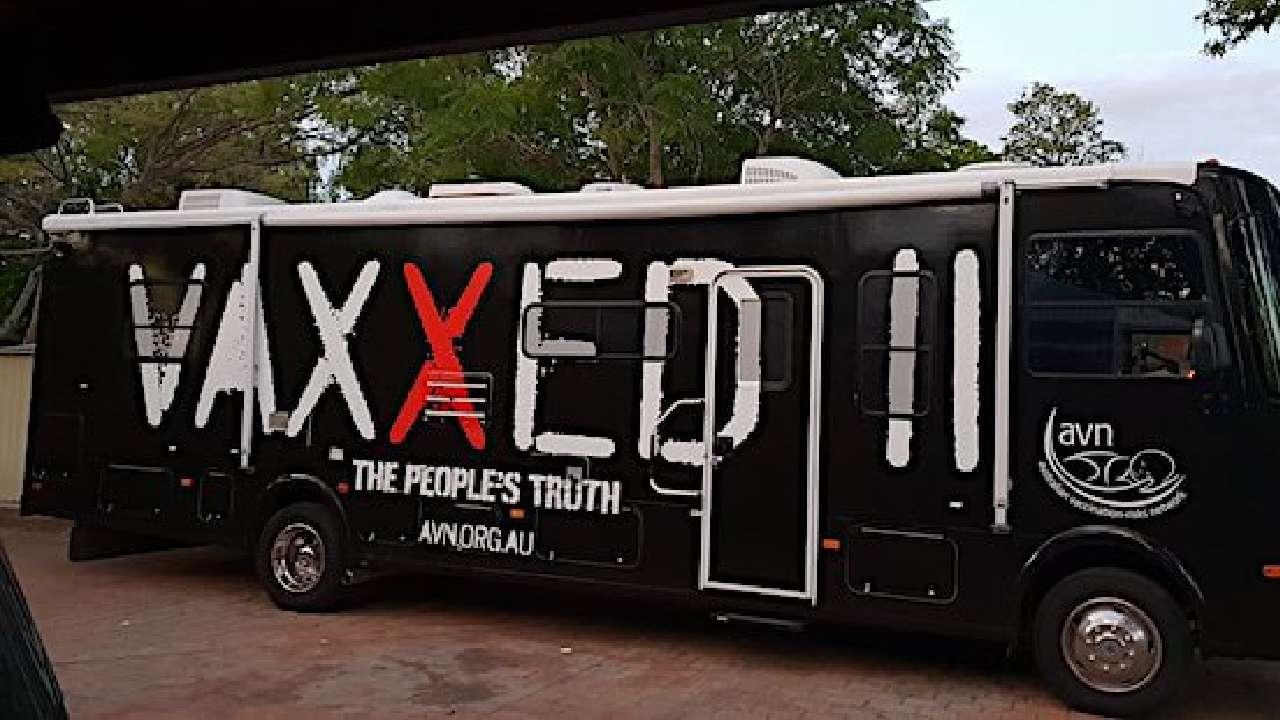 Hundreds join anti-vaxxer group's national bus tour