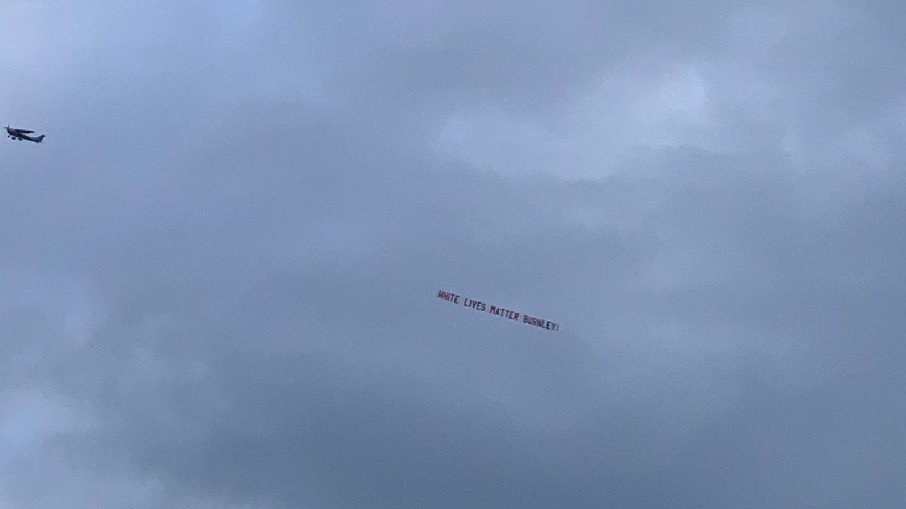 """""""White Lives Matter"""" banner flown above football match"""