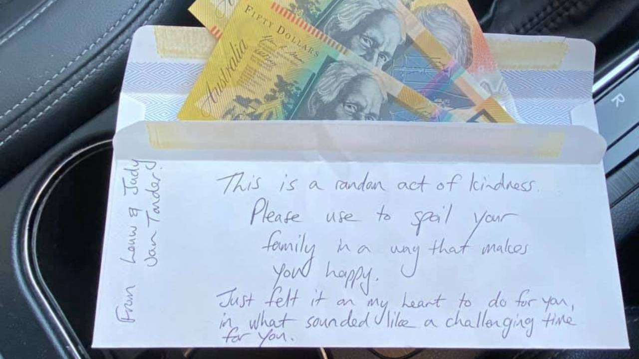 Generous gesture found in second-hand car leaves woman stunned