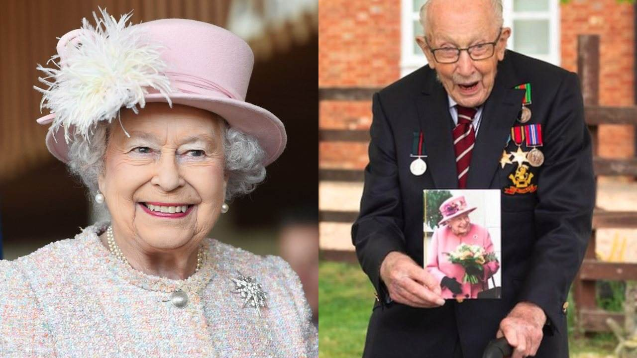 Queen to knight Tom Moore in her first in-person engagement since lockdown