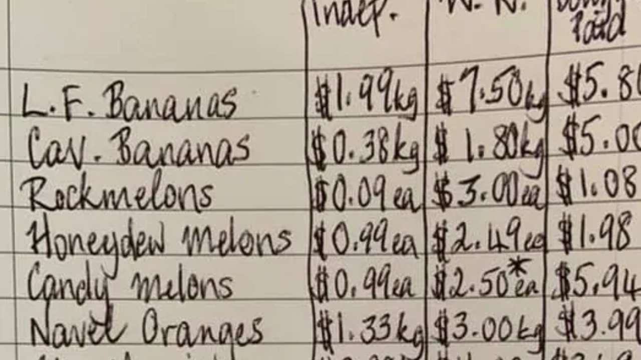 Who is cheaper? Woman's shares shocking supermarket shopping list