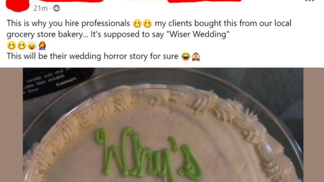 "Wedding planner shares ""wedding horror"" story"