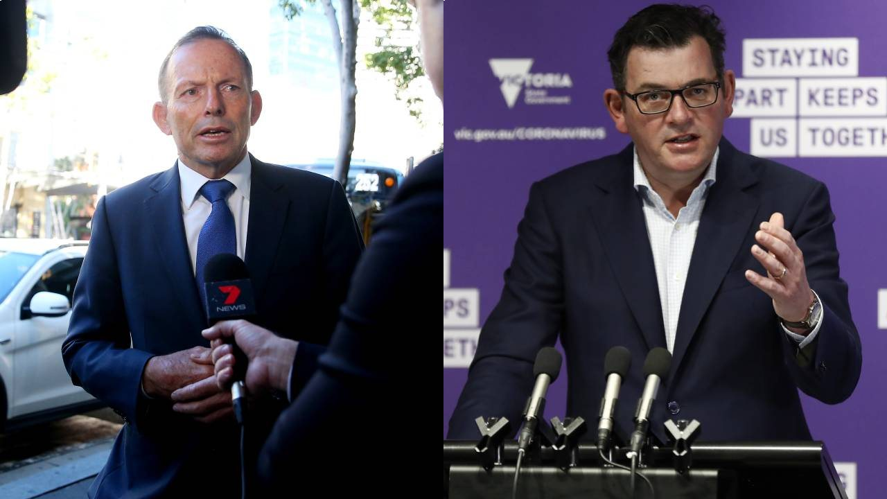 Tony Abbott launches scathing attack on Daniel Andrews