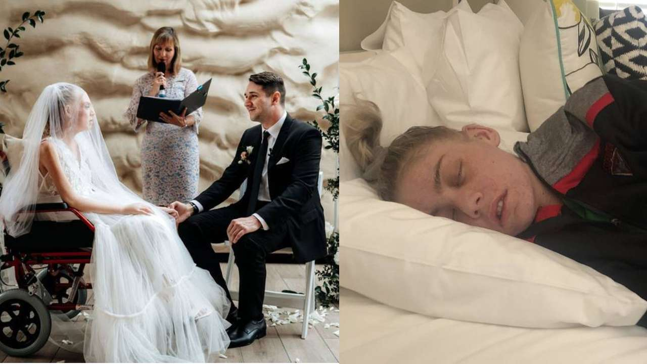 Weeks to live: Woman marries love of her life after being falsely promised more time