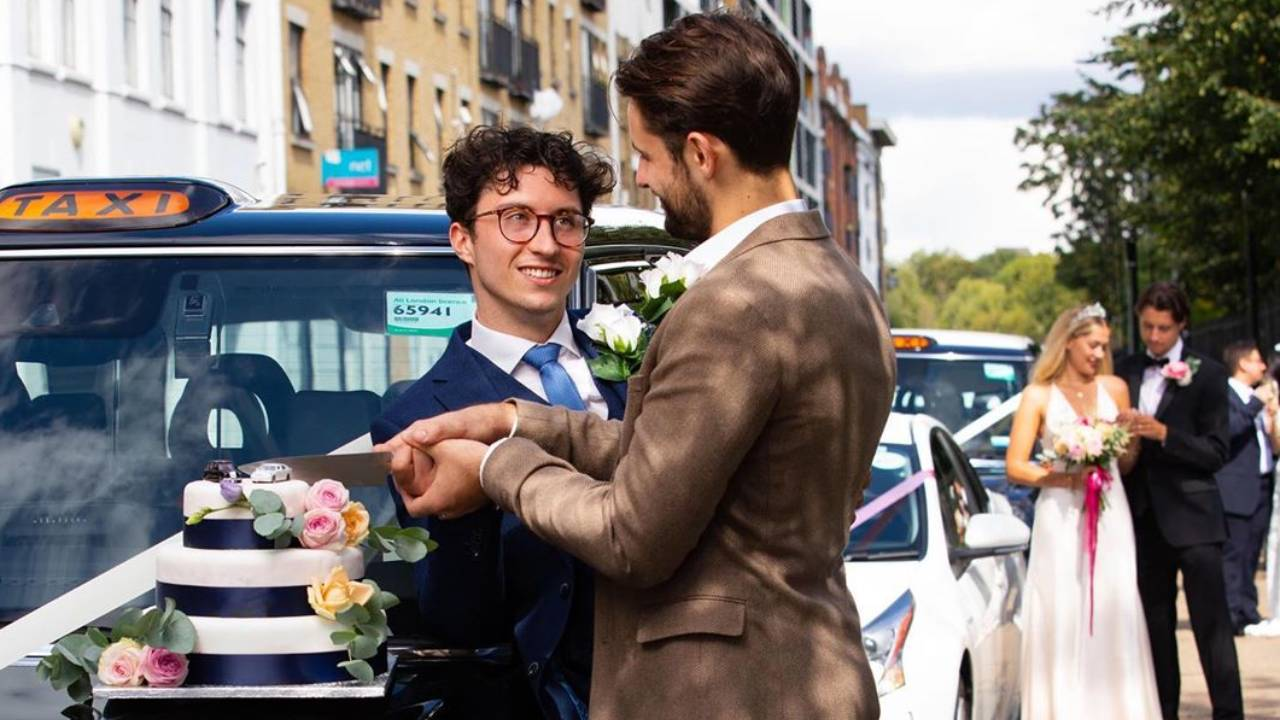 Couples tie the knot in first drive-through wedding