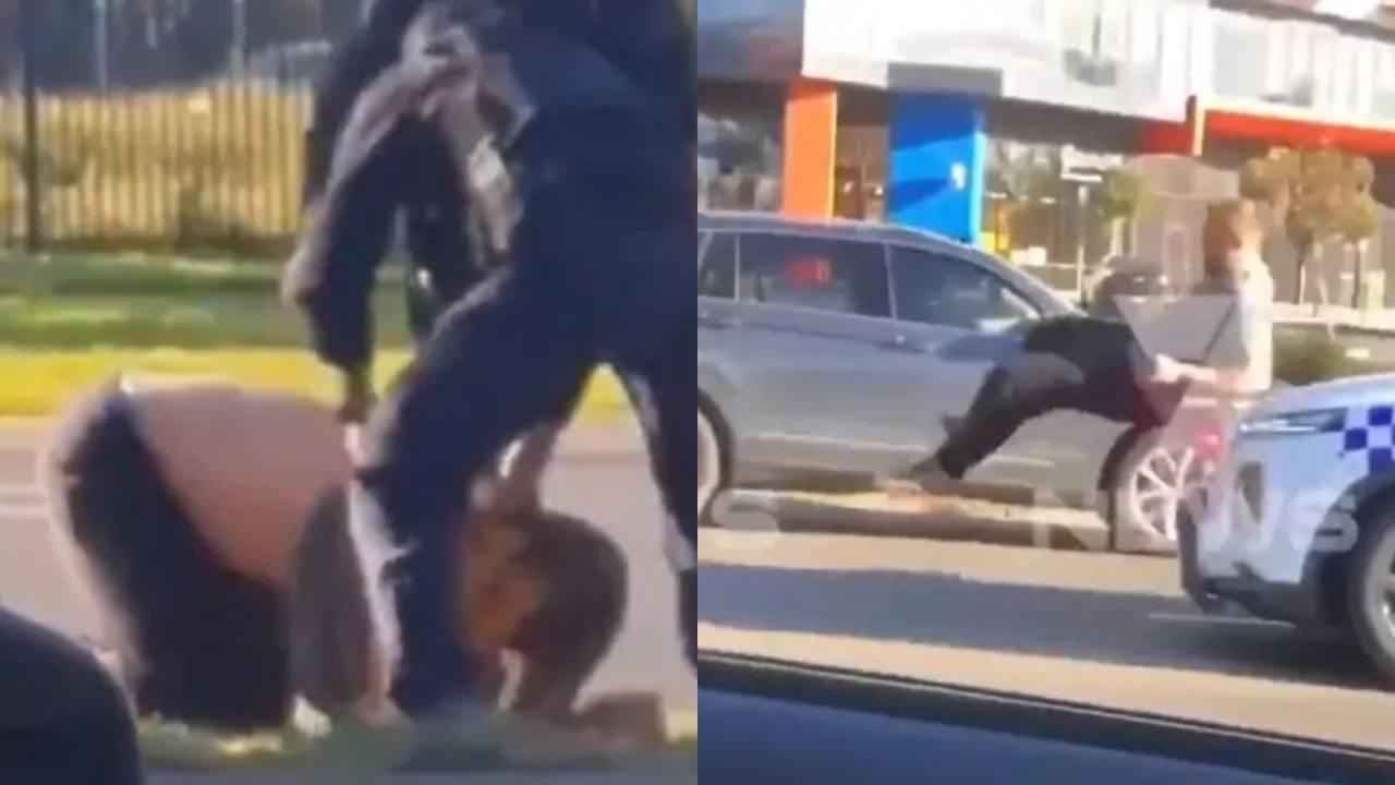 "Officer suspended after stomping on man's head in ""brutal"" arrest"