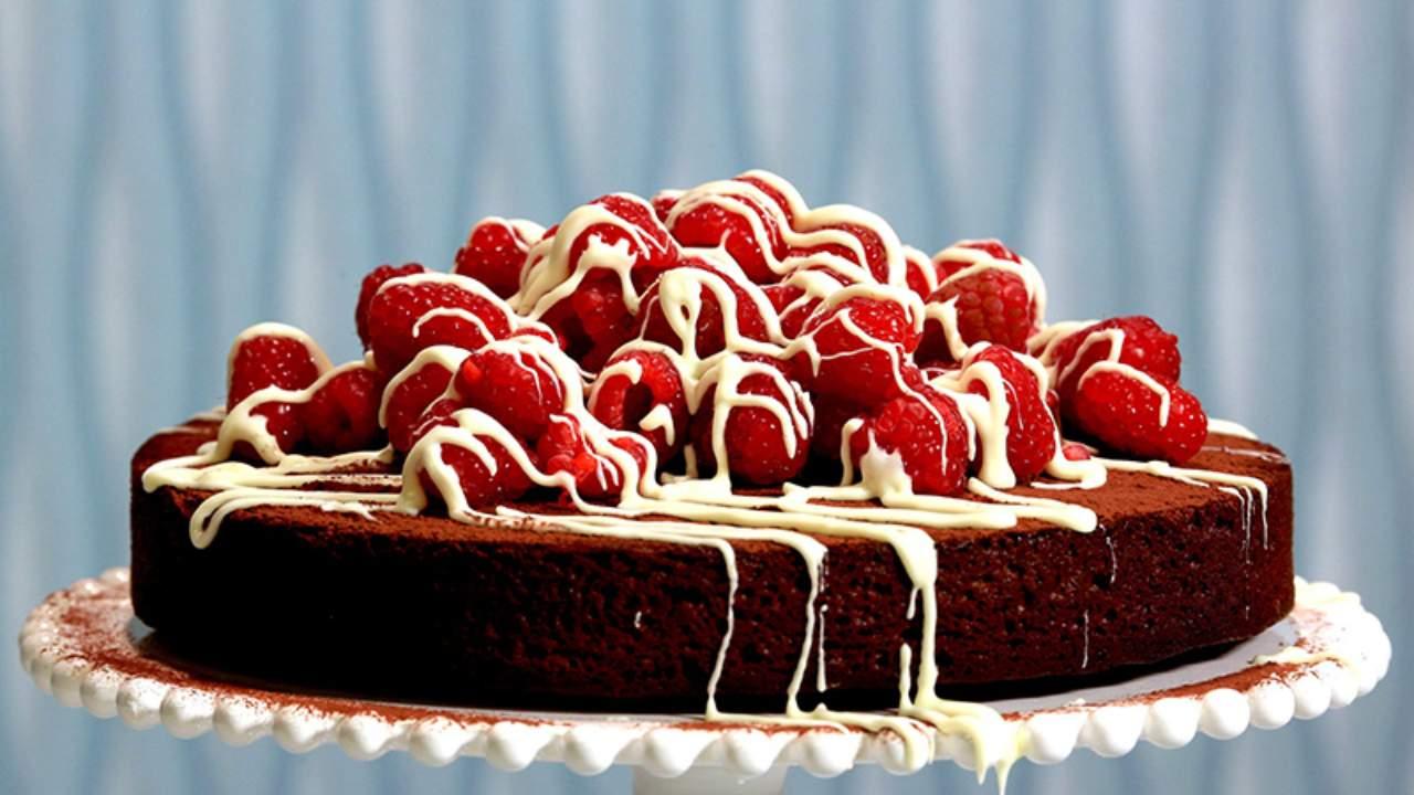 Lyndey Milan's simple chocolate fudge cake