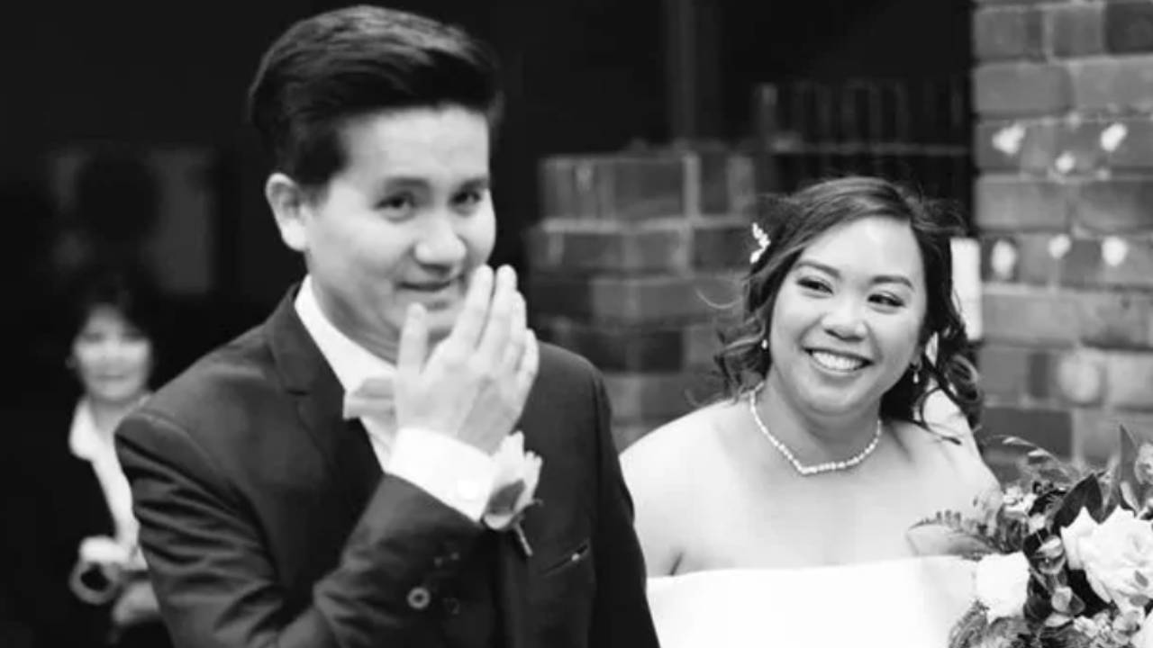Photo reveals bride's heartbreaking gift to husband
