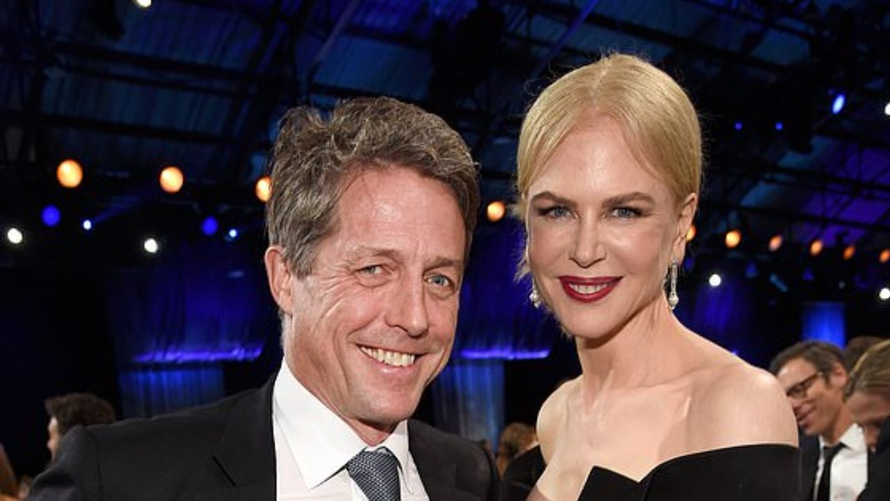 "Nicole Kidman raves about co-star Hugh Grant: ""He is just very easy to be around"""
