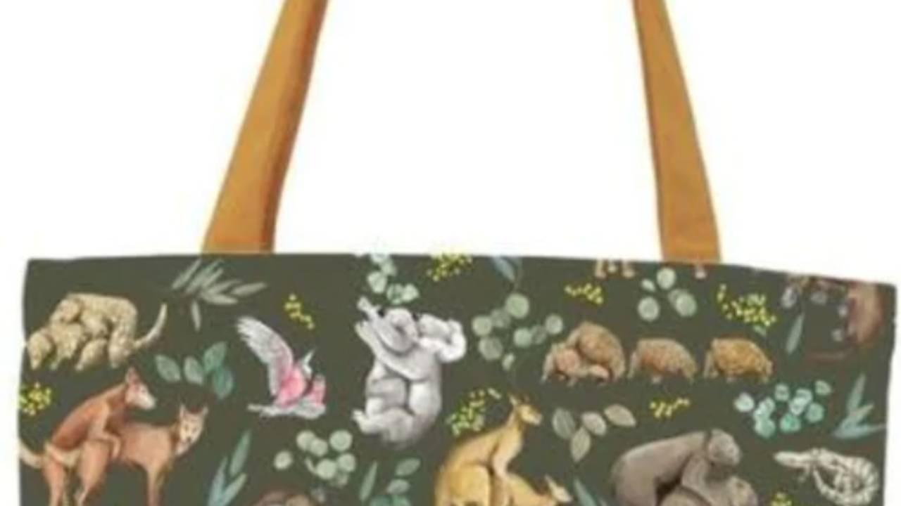 Grandma discovers hilarious X-rated detail on handbag