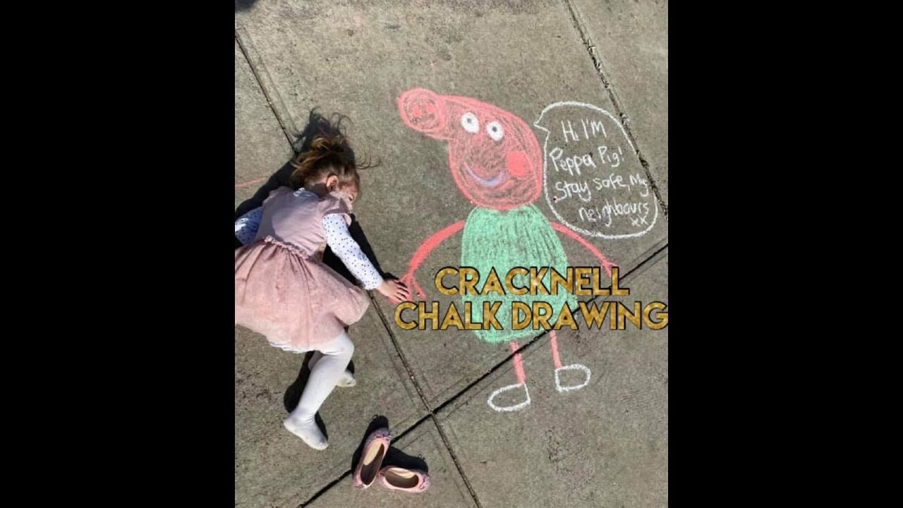 Angry neighbour rants over chalk drawings