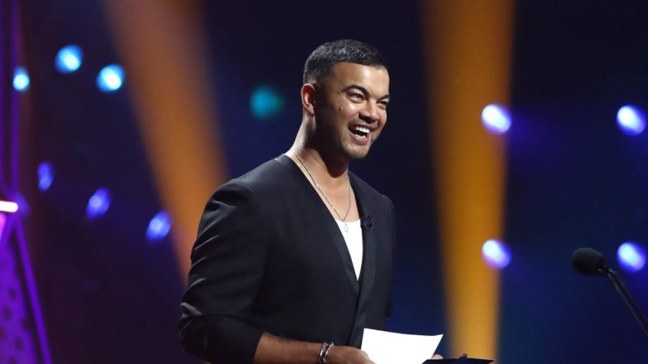 Guy Sebastian steals the show with X-rated gag