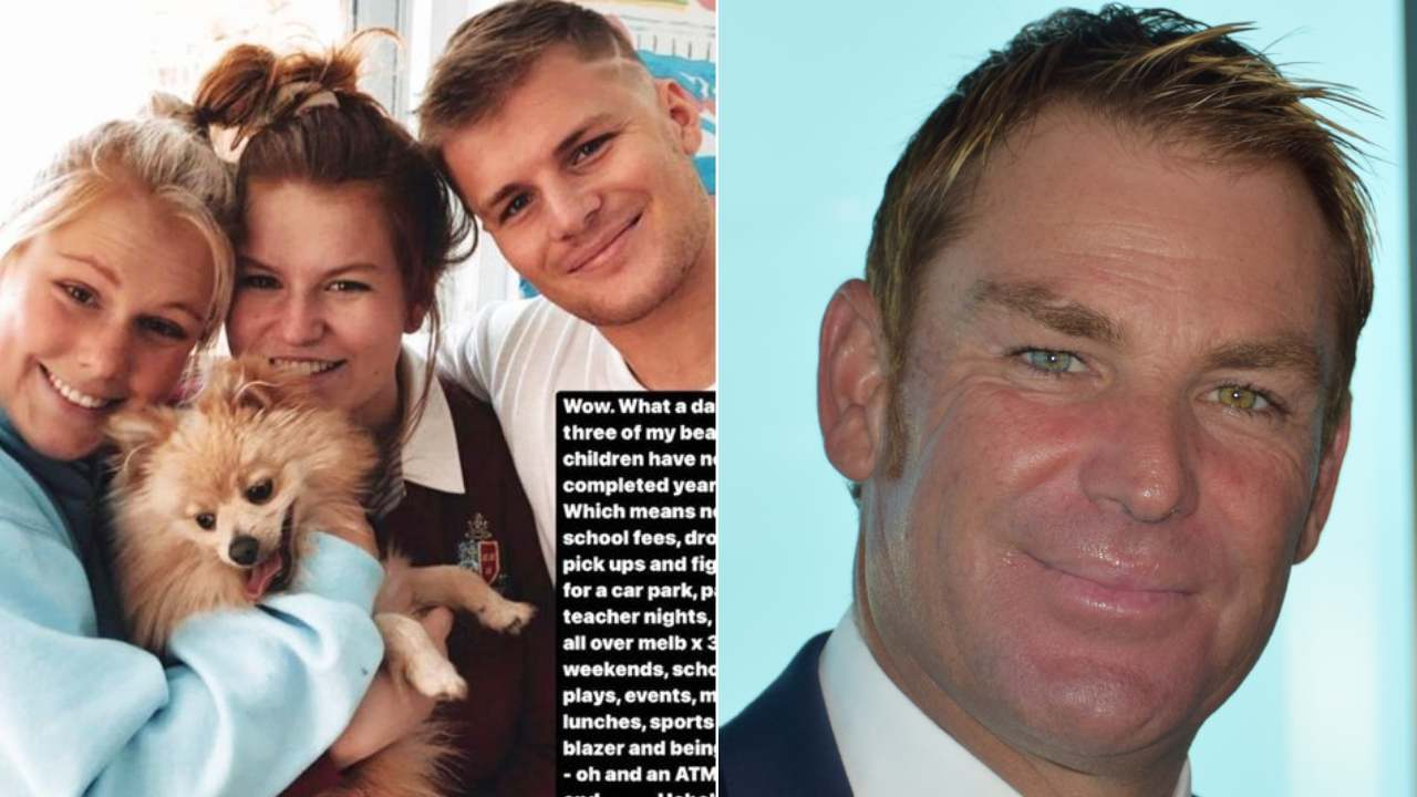 Shane Warne shares bittersweet family news