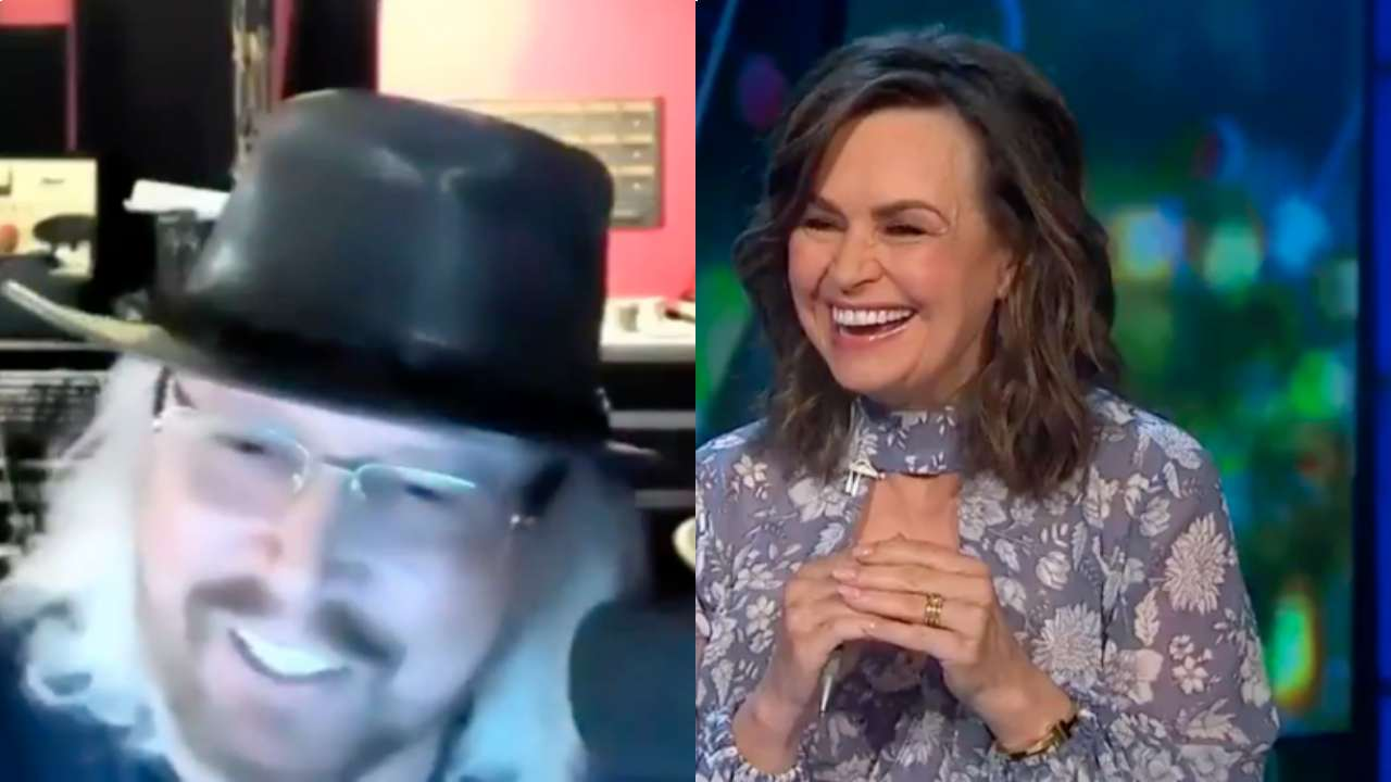 Lisa Wilkinson's cheeky comment leaves Bee Gees star red-faced