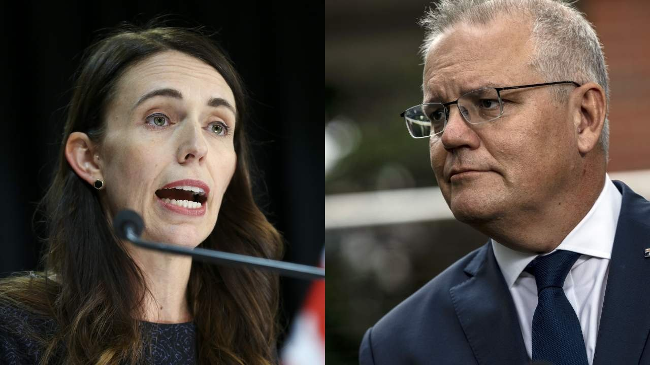 """Visibly furious"" Jacinda Ardern berates Scott Morrison in press conference"