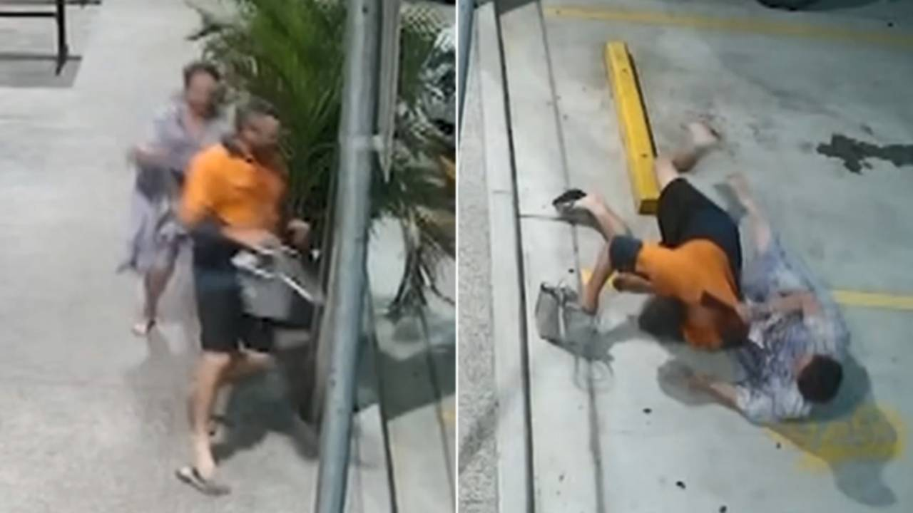 Heroic grandmother tackles alleged thief to the ground