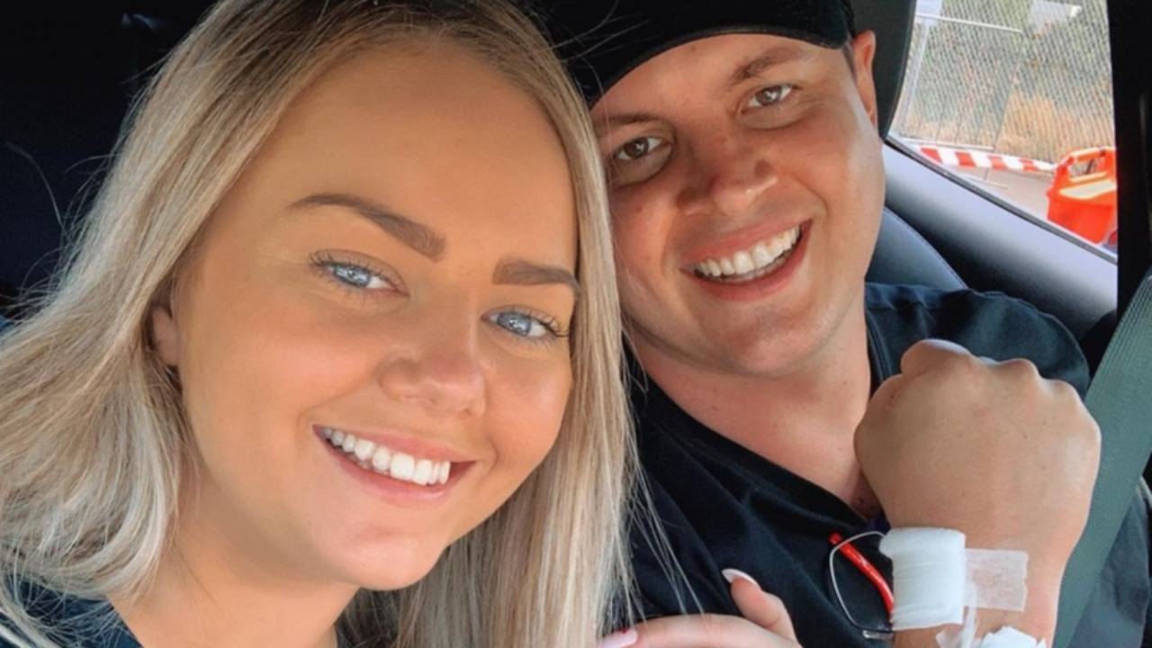 "Johnny Ruffo reunites with ""bestie"" during cancer battle"