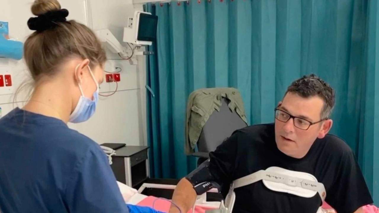 Dan Andrews gives health update on serious fall injury