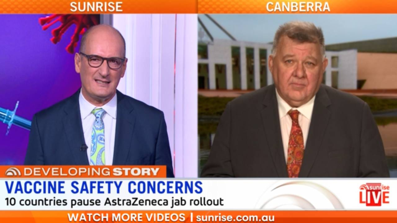 """""""You're not a scientist"""": Kochie and Craig Kelly go head to head over AstraZeneca doubts"""