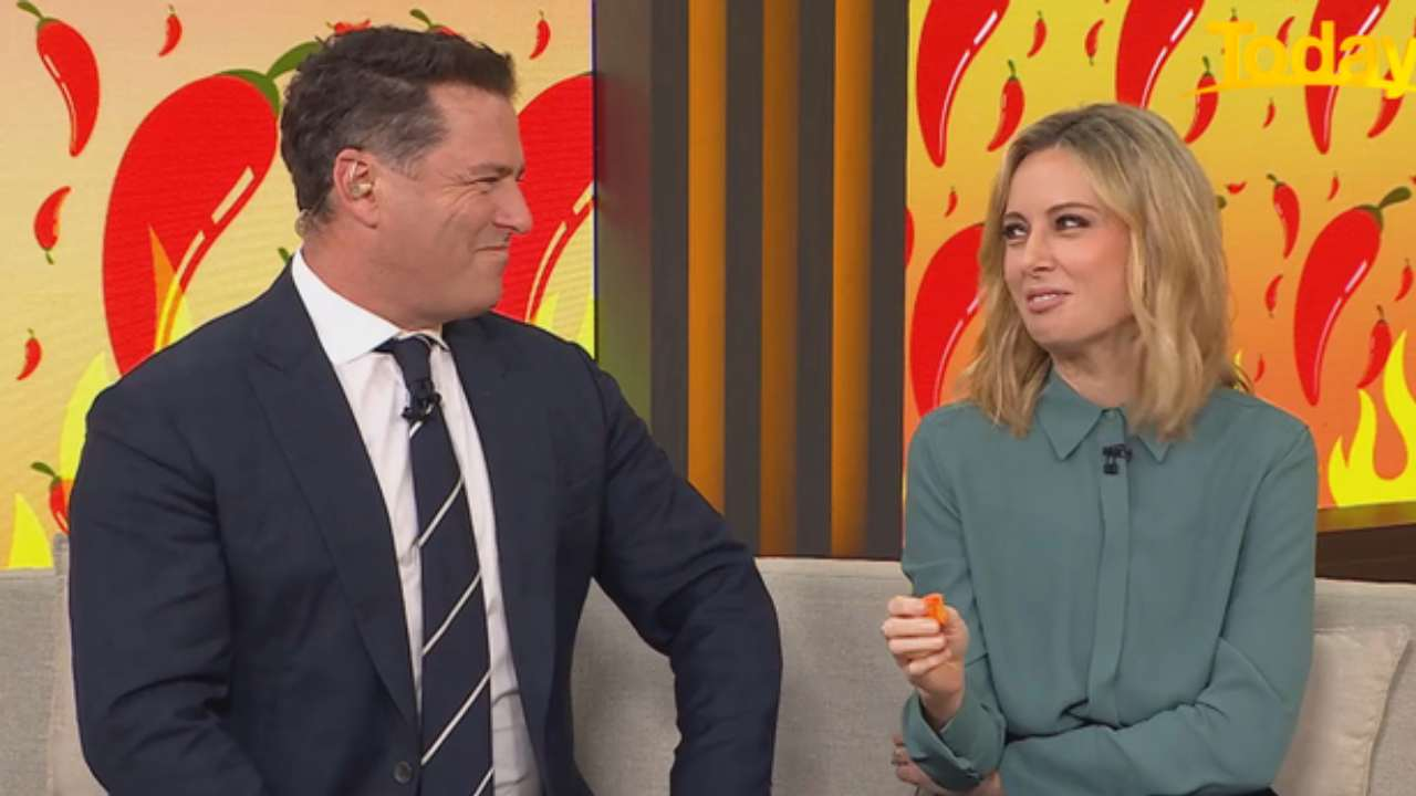 """""""I really dislike you"""": Ally Langdon fires up on Karl over hot chillies"""