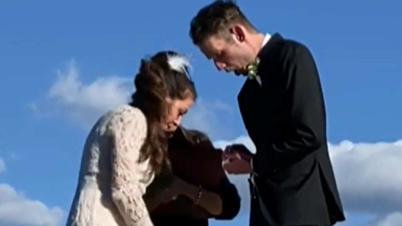 """""""This can't be happening"""": Groom drops wedding ring in worst possible place"""