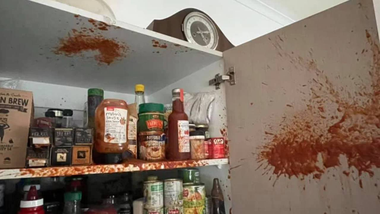 Coles shopper's grim warning after item explodes in pantry