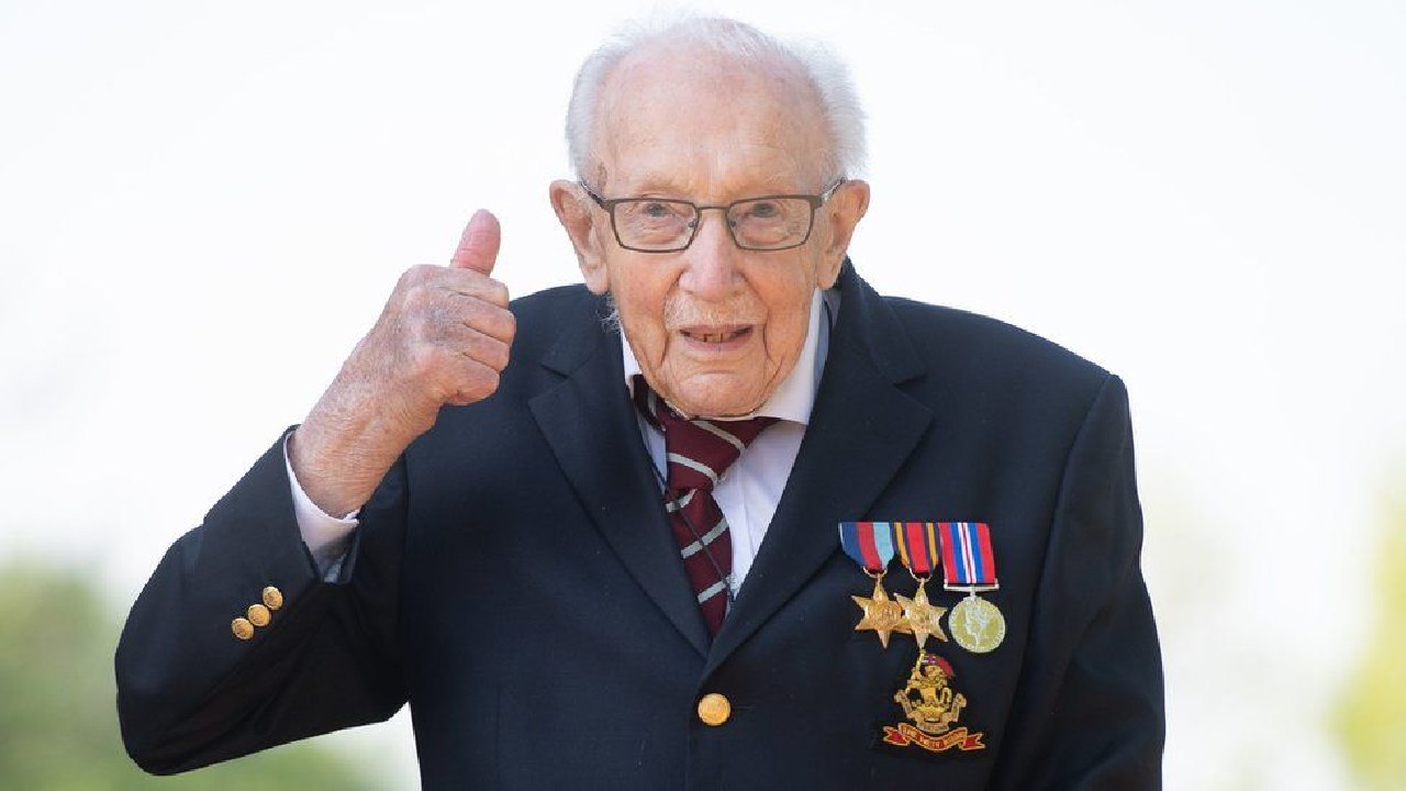 Family of Captain Sir Tom Moore announce fundraising event to mark 101st birthday