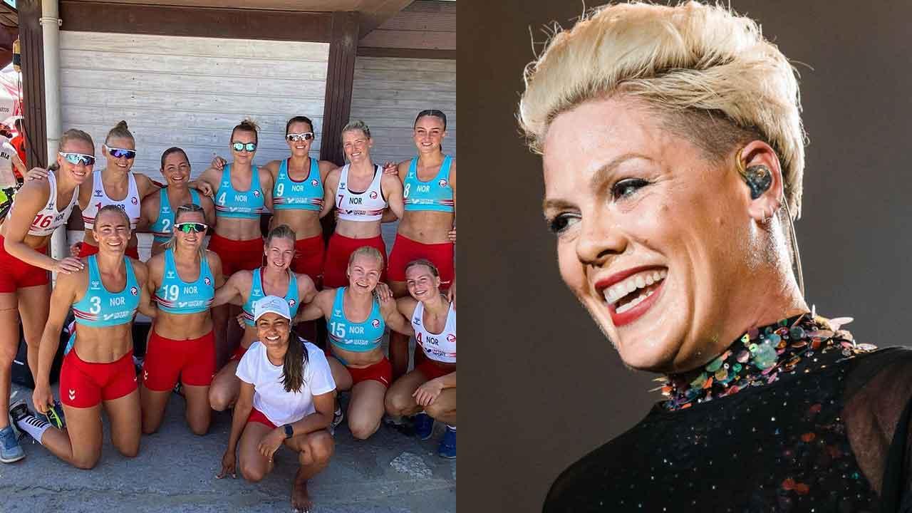 """WOW!"" Beach handball team responds to Pink's amazing offer"