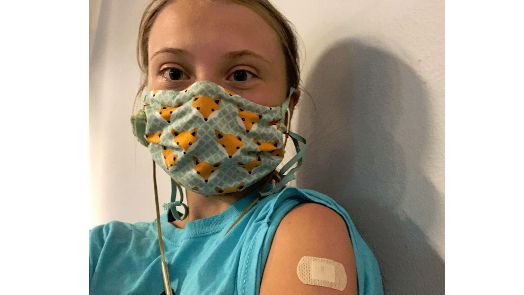 Greta Thunberg's first vaccine comes with global statement