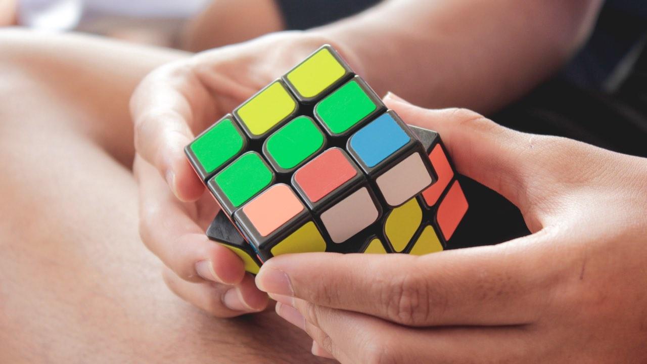 Art inspires the magic Rubik's cube